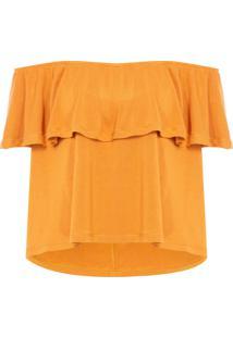 Camiseta Feminina Lila - Laranja