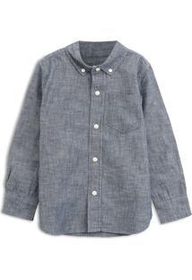 Camisa Gap Infantil Bolso Cinza