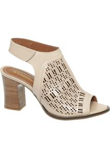 Sandal Boot Nude Em Couro