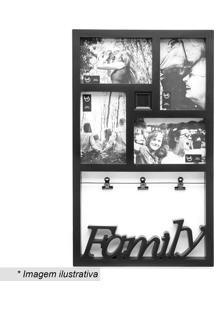 Painel De Fotos Família- Preto- 46X27,5X2Cmludi
