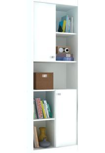 Estante Para Livros 2 Portas 4 Prateleiras Ho-2925 Branco - Hecol