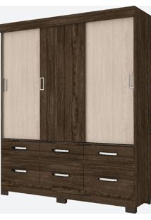 Guarda-Roupa 3 Portas Henn B21-88 Moka Fendi Se