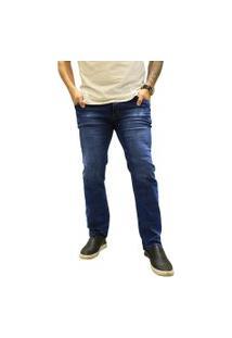 Calça Jeans Elite Lux Reta Azul Escuro