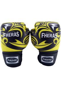 b699f4899 Luva Fheras Boxe Muay Thai Top - 14 Oz Tribal Amarelo