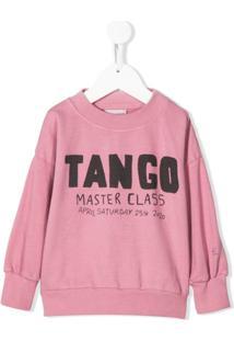 Bobo Choses Suéter Com Estampa Tango - Rosa