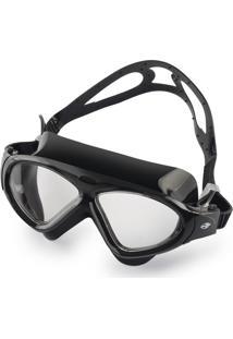 7b51abef8 Óculos De Natação Mormaii Orbit Todo Preto Com Lentes Transparentes