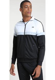 Jaqueta Masculina Esportiva Ace Com Recortes Preta
