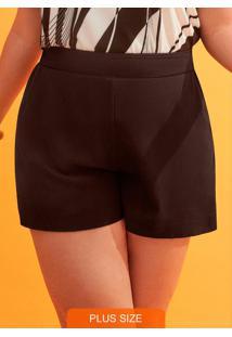 Shorts Tecido Rayon Twill Preto