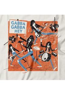 Camiseta Gabba Gabba Hey Feminina - Feminino-Off White