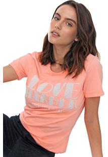 Camiseta Coca-Cola Jeans Aplicações Rosa