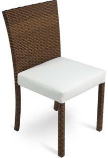 Cadeira Carmel Para Área Externa Fibra Sintética Estrutura Alumínio Eco Friendly Design Scaburi