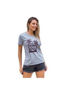 Camiseta Feminina Mirat Under The Palms Mescla