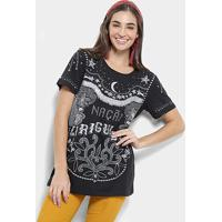 983b814305 Possui mangas longas bufantes. Blusa Farm T-Shirt Nação Ziriguidum Feminina  - Feminino-Preto