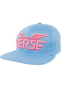 d034674781 Boné Verse Aba Reta Verse Limited Logo Asa Azul Rosa