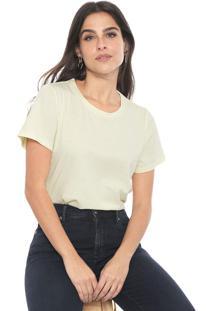 Camiseta Banana Republic Supima Cotton Crew-Neck Amarela