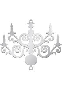 Espelho Decorativo Acrilize Candelabro Prata