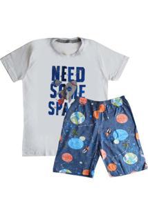Pijama Manga Curta Juvenil Menino Sortido