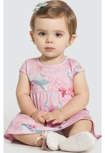 Vestido Com Calcinha Malha Modelli Rosa