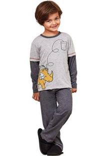 Pijama Longo Infantil Luna Cuore Masculino - Masculino
