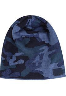 Gorro Colcci Unissex Camuflado - Masculino-Azul