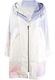 Yves Salomon Army Casaco Com Zíper E Estampa Tie-Dye - Branco