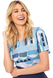 Camiseta Cantão Catavento Azul/Branca