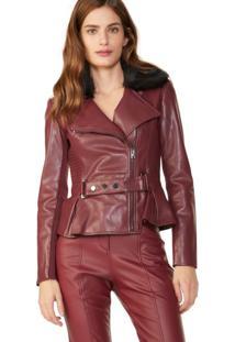 Jaqueta Leather Acinturada