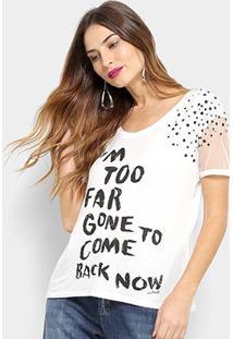 Camiseta Acostamento Fashion Pl Feminina - Feminino-Off White