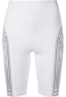 Fendi Bermuda Esportiva Com Logo - Branco