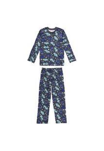 Pijama Infantil Inverno Estampa Dinos Malwee Kids