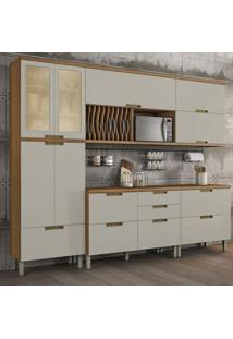 Cozinha Compacta Duquesa 9 Pt 6 Gv Off White E Freijó
