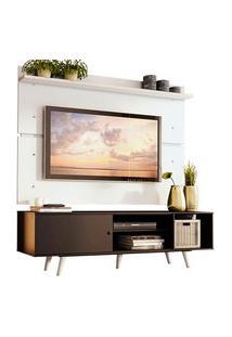 Rack Madesa Dubai E Painel Para Tv Até 65 Polegadas Com Pés Preto/Branco 8N09 Preto