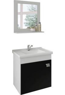 Conjunto De Banheiro Iris Branco E Preto