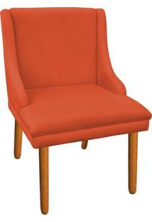 Cadeira Poltrona Decorativa Liz Suede Laranja - D'Rossi