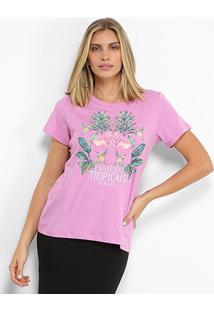 Camiseta Colcci Paraisos Tropicais Feminina - Feminino
