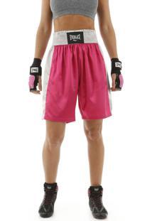 Bermuda De Boxe Everlast Fight Rosa