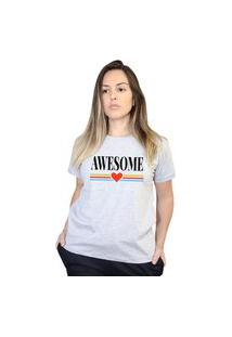 Camiseta Boutique Judith Awesome Cinza
