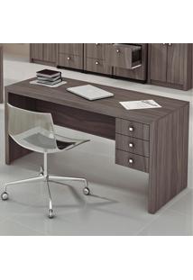 Mesa Para Computador 3 Com Gavetas Me4113 - Tecno Mobili - Carvalho