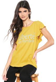 Camiseta Triton Liettering Amarela