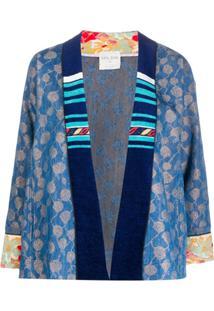 Forte Forte Printed Kimono Jacket - Azul