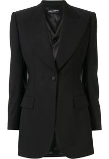 Dolce & Gabbana Blazer Com Lapelas - Preto