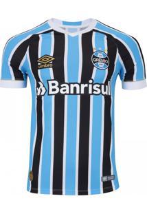 Camisa Umbro Grêmio Oficial 1 2018 (Fan Pat S/N)