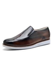 Sapato Social Side Gore Sandro Moscoloni Mart Marrom Escuro