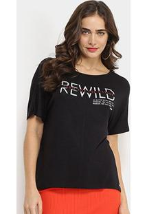 Camiseta Forum Rewild Taste For The Nature Feminina - Feminino-Preto
