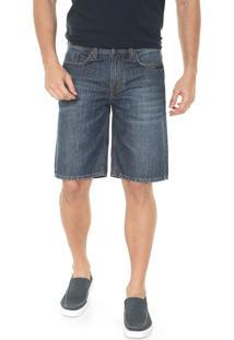 Bermuda Jeans Timberland Reta Medium Straight Dark Azul