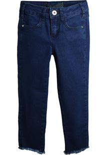 Calça Jeans Colcci Fun Menina Lisa Azul-Marinho