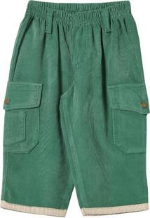 Calça Look Jeans Veludo Collor Verde