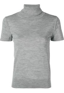 Chloé Camiseta Gola Alta - Cinza