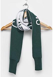 Cachecol Calvin Klein Personalizado Feminino - Feminino-Verde