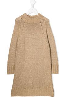 Il Gufo Vestido De Tricô - Marrom